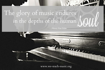The Glory of Music QUOTE Free Printable