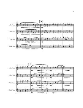 The Glow Worm & Goodnight Ladies (Medley) for AATB Saxophone Quartet