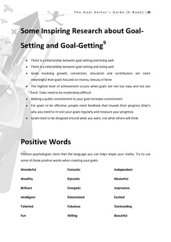 The Goal Getter's Guide- PDF eBook