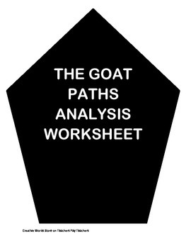 The Goat Paths by James Stephens - Analysis Worksheet and