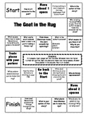 """The Goat in the Rug"" 2nd grade Journeys comprehension game board"
