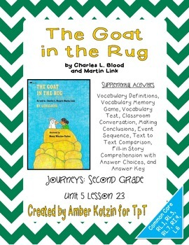 The Goat in the Rug Activities 2nd Grade Journeys Unit 5,