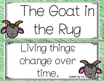 The Goat in the Rug Focus Wall Anchor Charts and Word Wall Cards