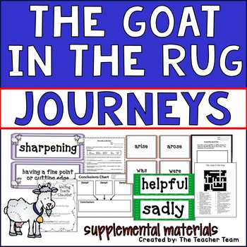 The Goat in the Rug Journeys 2nd Grade Unit 5 Lesson 23 Activities & Printables