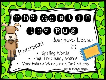 The Goat in the Rug Powerpoint - Second Grade Journeys Lesson 23