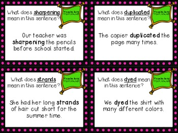 The Goat in the Rug Review Task Cards for Houghton Mifflin Journeys