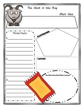 The Goat in the Rug Story Map Graphic Organizer