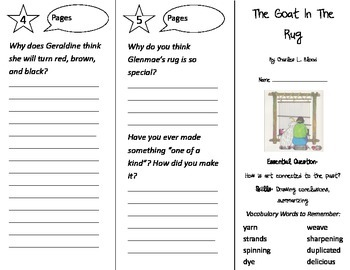 The Goat in the Rug Trifold - Journeys 2nd Grade Unit 5 Week 3 (2014, 2017