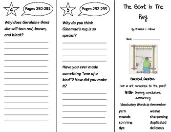 The Goat in the Rug Trifold - Journeys 2nd Grade Unit 5 We