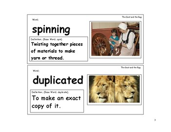 The Goat in the Rug Vocabulary Cards