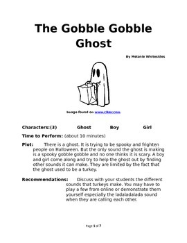 The Gobble Gobble Ghost - Small Group Reader's Theater