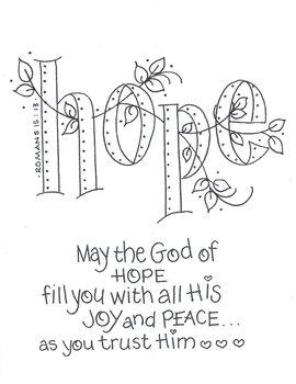 The God of HOPE (Romans 15:13)