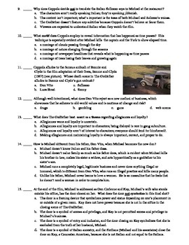 The Godfather Film (1972) 15-Question Multiple Choice Quiz