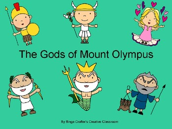 The Gods of Mount Olympus PowerPoint Presentation