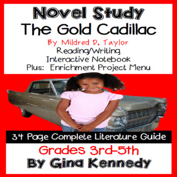The Gold Cadillac Novel Study + Enrichment Project Menu