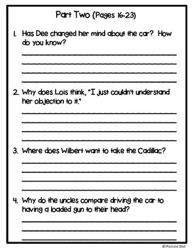 The Gold Cadillac Novel Unit or Guided Reading Pack