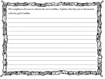 The Gold Cadillac by Mildred D. Taylor Writing Response Journal
