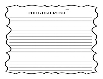 The Gold Rush - A - Complete -  the -  Picture -  As -  You -  Learn Activity