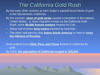 The Gold Rush: Effects of Territorial Expansion