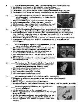 The Gold Rush Film (1925) 15-Question Multiple Choice Quiz