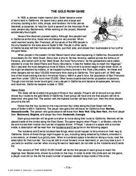 The Gold Rush Game, AMERICAN HISTORY LESSON 71 of 150, Kids LOVE This Game!