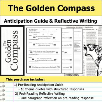 The Golden Compass - Anticipation Guide & Reflection Writing