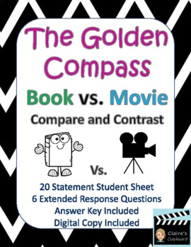 The Golden Compass Book vs. Movie Compare and Contrast