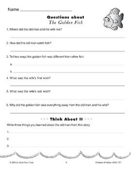 The Golden Fish (A Russian Folktale)