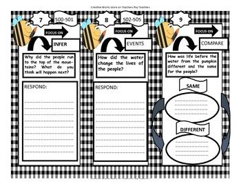The Golden Flower ( Reading Wonders 2nd Grade) - Reader Response Booklet
