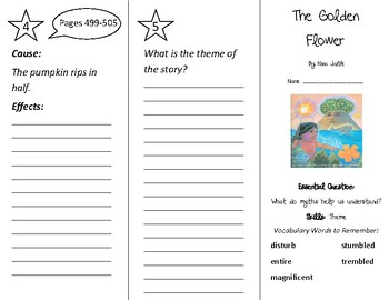 The Golden Flower Trifold - Wonders 2nd Grade Unit 6 Week 1