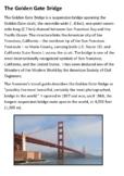 The Golden Gate Bridge Handout
