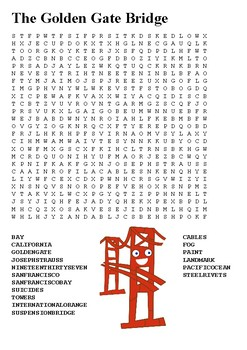 The Golden Gate Bridge Word Search