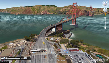 The Golden Gate Bridge with Google Earth Tours (03:29)