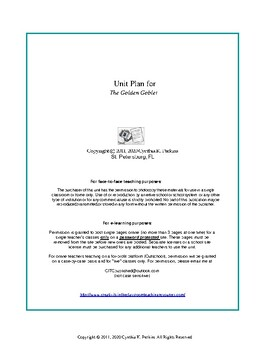 The Golden Goblet Complete Literature and Grammar Unit