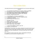 The Golden Rule - Respect in the Classroom Contract