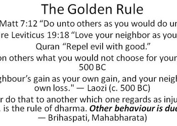 "The Golden Rule as part of ""GROW UP"" / Nuances between Selfish and Self-Centered"