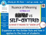 """Character for teens: The Golden Rule as part of """"GROW UP"""""""