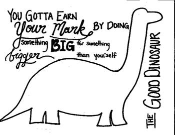 The Good Dinosaur Craft - Handprint