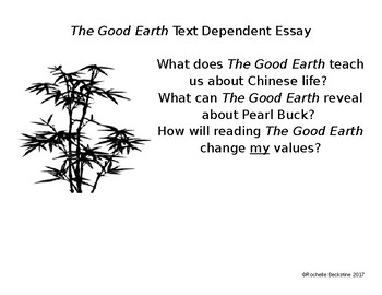 The Good Earth Essay Assignment & Anticipation Guide