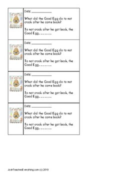 The Good Egg by Jory John Lesson Plan and Activities