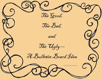 The Good The Bad and The Ugly Vocabulary Bulletin Board