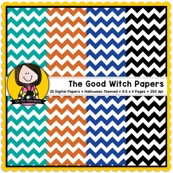 The Good Witch {Digital Papers for Commercial Use}