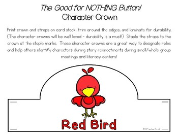 The Good for Nothing Button! Story Character Crowns {FREE}