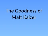 The Goodness of Matt Kaizer by AVI - Vocabulary Introduction