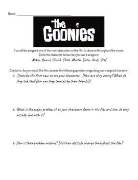 The Goonies Film Questions