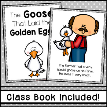 The Goose That Laid the Golden Egg Fable Emergent Reader