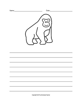 The Gorilla Writing Paper Set