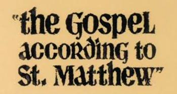 The Gospel of Matthew Brief Overview