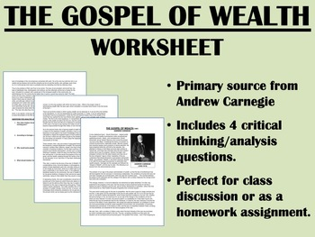 """""""The Gospel of Wealth"""" - Andrew Carnegie - Gilded Age America - USH/APUSH"""