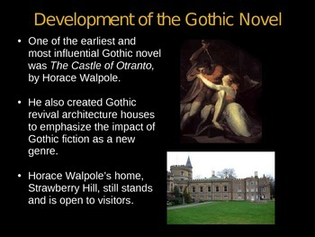 the gothic novel powerpoint presentation | tpt, Powerpoint templates